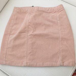 Light pink jean skirt